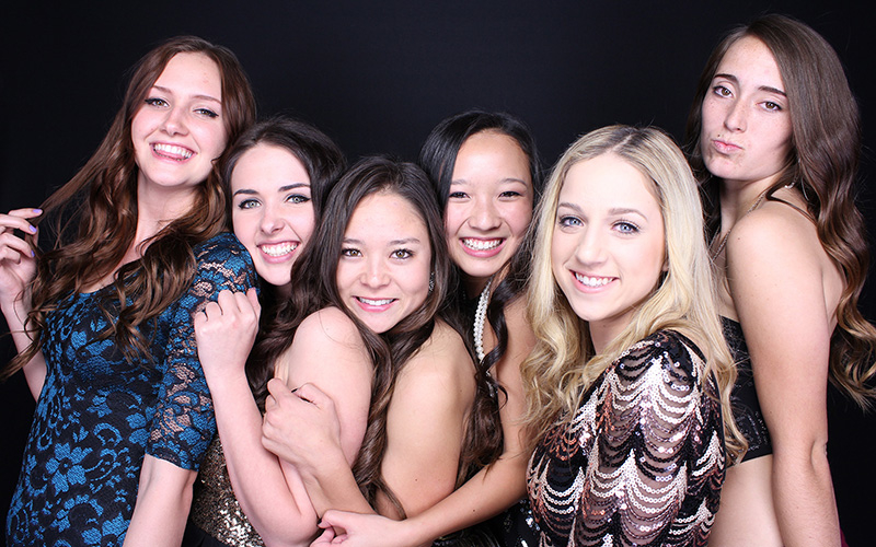 Girls In Small Photo Booth
